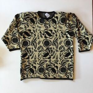 Vintage Merino Wool Made in Italy Floral Sweater